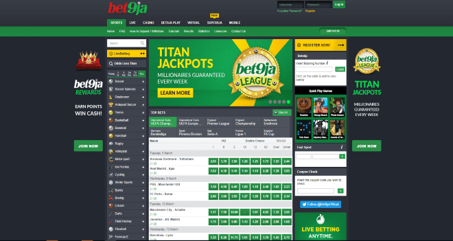 Bet9ja mobile betting ladbrokes betting system for baccarat
